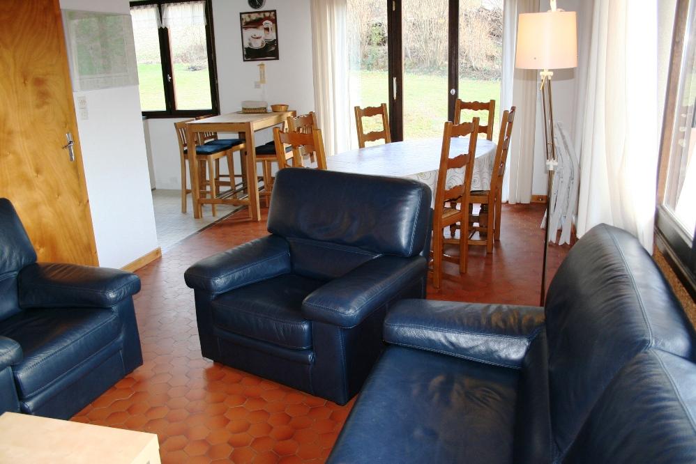 salon/salle à manger et cuisine ouverte